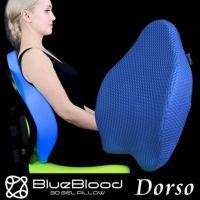 BlueBlood ドルソ 背中サポートチェアピロー